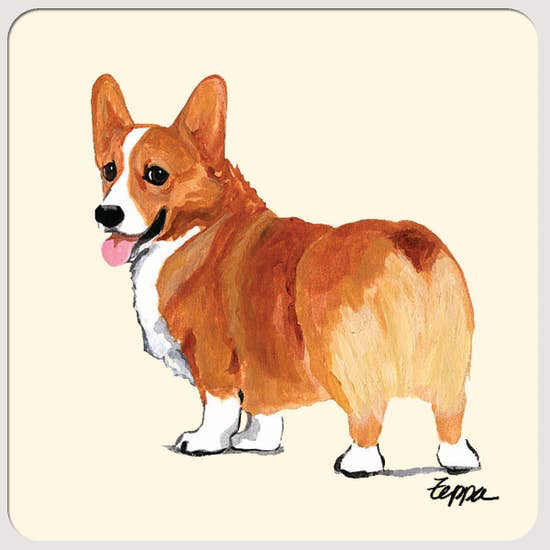 Welsh Corgi Pembroke Red Beverage Coasters - Horse Country Trading Company