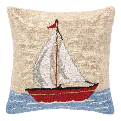Sailboat Hook Pillow - Horse Country Trading Company