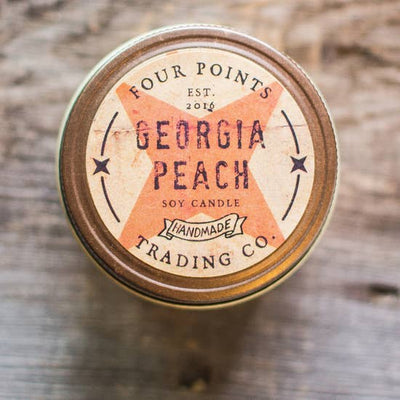 4oz Soy Candle: Georgia Peach - Horse Country Trading Company