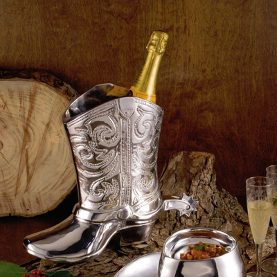 Equestrian Boot Wine Bucket - Horse Country Trading Company
