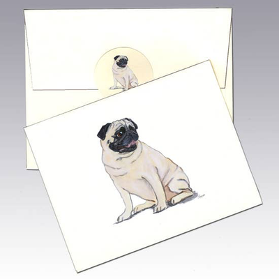 Pug Note Cards - Horse Country Trading Company