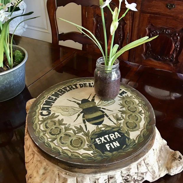 "Vintage Gold Bee Lazy Susan 23"" Diameter - Horse Country Trading Company"