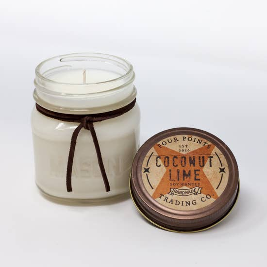 8oz Soy Candle: Coconut Lime - Horse Country Trading Company