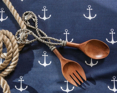Crab & Rope Salad Server Set - Horse Country Trading Company