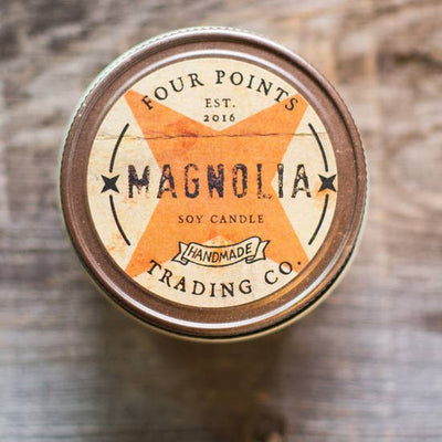 8oz Soy Candle: Magnolia - Horse Country Trading Company