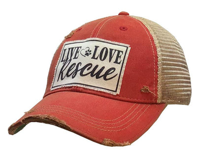 Live Love Rescue Distressed Trucker Cap - Horse Country Trading Company
