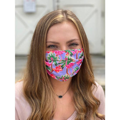 Flamingo Face Mask - Horse Country Trading Company