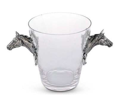 Horse Head Glass Ice Bucket - Horse Country Trading Company