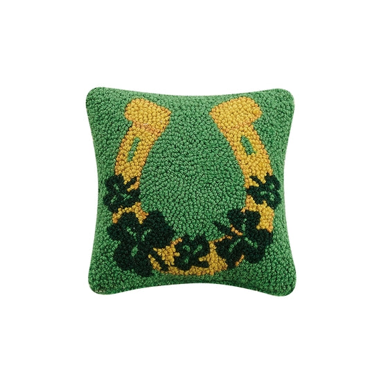 Lucky Horse Shoe Hook Pillow - Horse Country Trading Company