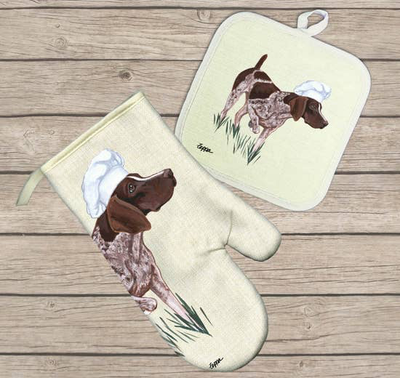 German Shorthaired Pointer Hot Paws Oven Mitt - Horse Country Trading Company