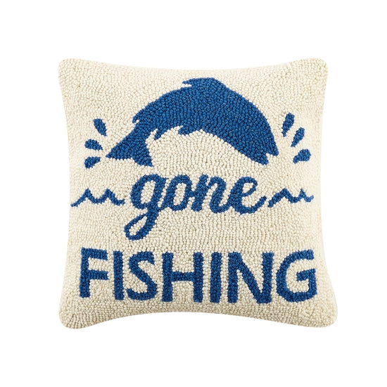 Gone Fishing Hook Pillow - Horse Country Trading Company