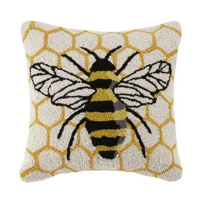 Honeycomb Bee Hook Pillow - Horse Country Trading Company