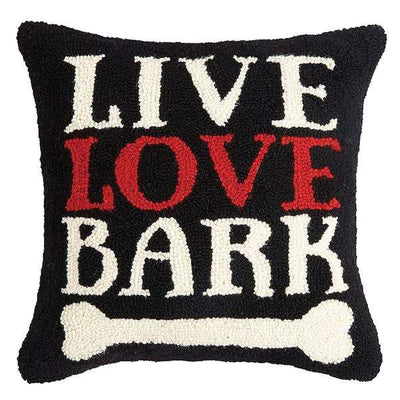 Live Love Bark Hook Pillow - Horse Country Trading Company