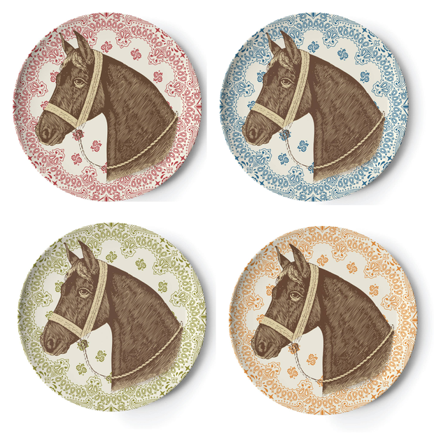 Ranchero Side Plates - Set of 4 - Horse Country Trading Company