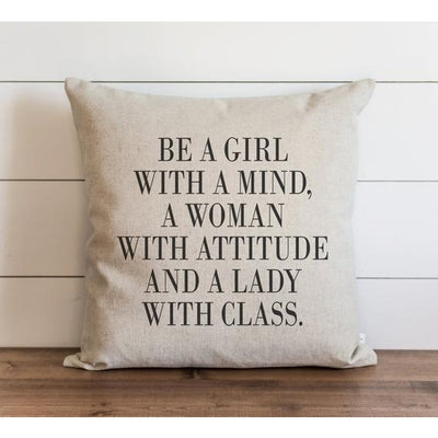 Be A Girl With A Mind... Pillow - Horse Country Trading Company