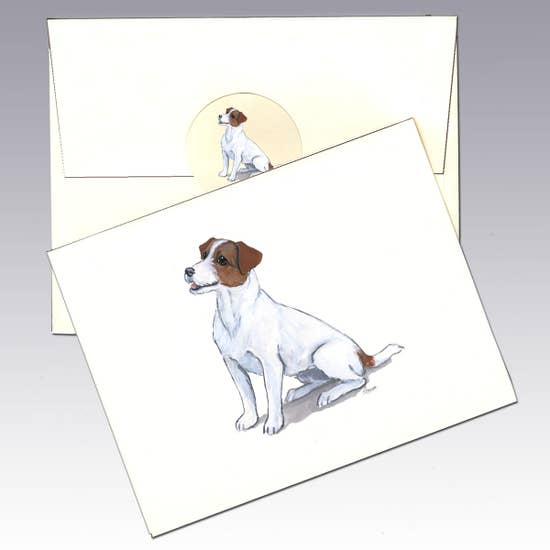 Jack Russell Terrier Brown/White Note Cards - Horse Country Trading Company