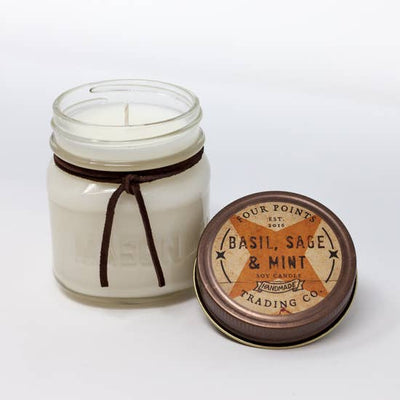 8oz Soy Candle: Basil, Sage and Mint - Horse Country Trading Company