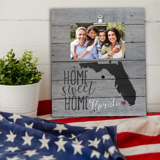 Florida Home Sweet Home Clip Picture Frame - Horse Country Trading Company