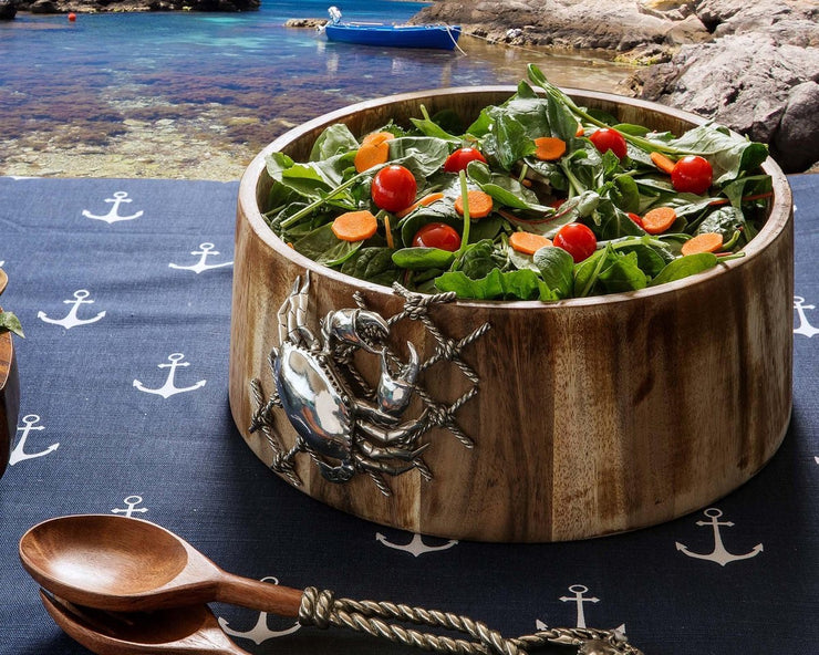 Crab in Net Salad Bowl - Horse Country Trading Company