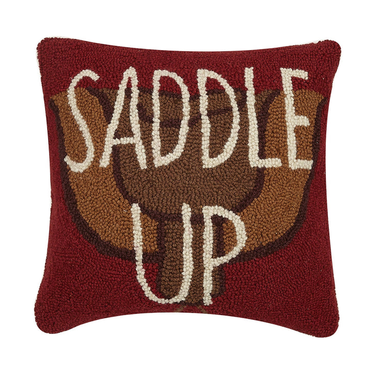 Saddle Up Hook Pillow - Horse Country Trading Company