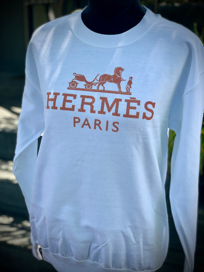 Hermes Inspired Ladies Sweatshirt