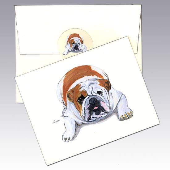 Bulldog Note Cards - Horse Country Trading Company