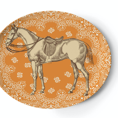 Ranchero Oval Tray - Horse Country Trading Company