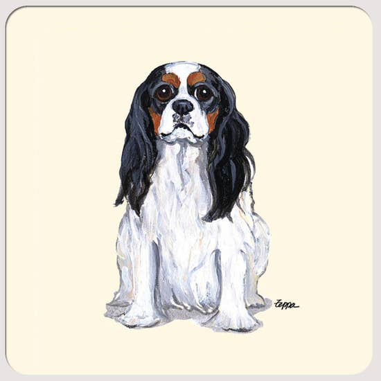 Cavalier King Charles Spaniel Tri Color Coasters - Horse Country Trading Company