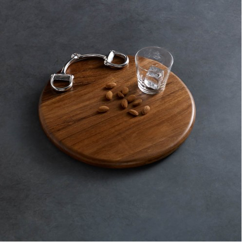 "Wood 12"" Round Cheese Board - Horse Country Trading Company"