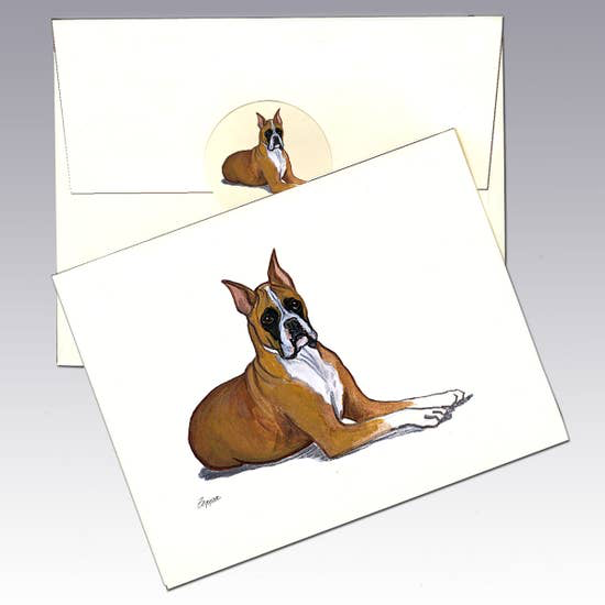 Boxer Note Cards - Horse Country Trading Company