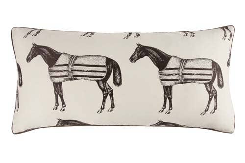 Large Horse Jacquard Bed Pillow 18x34 - Horse Country Trading Company
