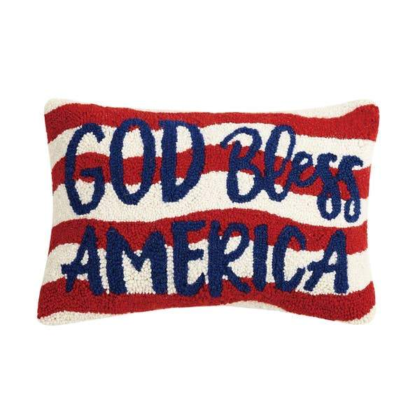 God Bless America Hook Pillow - Horse Country Trading Company