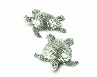 Pewter Sea Turtles Salt & Pepper Set - Horse Country Trading Company