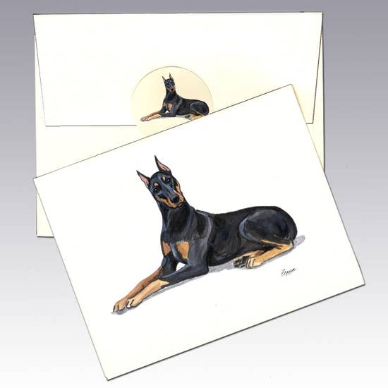 Doberman Pinscher Note Cards - Horse Country Trading Company