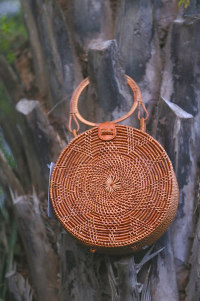 Natural Rattan Clutch - Horse Country Trading Company