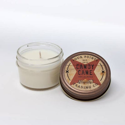 4oz Soy Candle: Candy Cane - Horse Country Trading Company