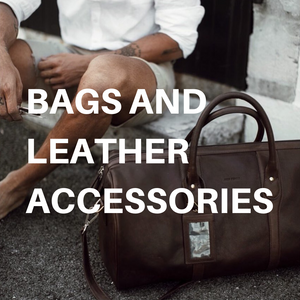 Bags and leather accessories by John Henric and B Away