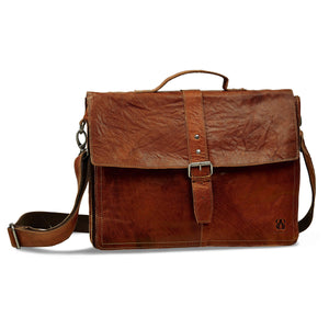 Portfolio | Brown | Waxed Buffalo Leather - STOCKHOLM