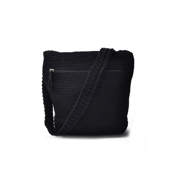 Small Body Bag | Black | Crochet