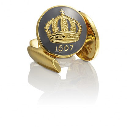 Cufflinks | The Skultuna Crown Gold | Mountbatten Grey - STOCKHOLM