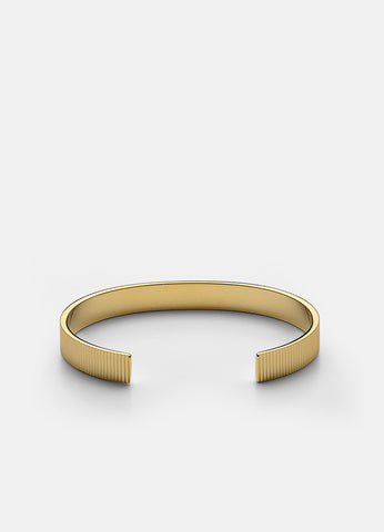 Bangle | Ribbed | Gold - STOCKHOLM