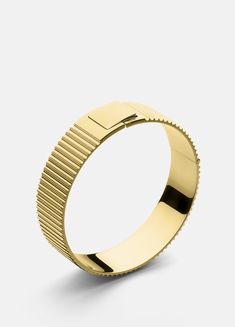 Bangle | Ribbed Clasp | Gold - STOCKHOLM