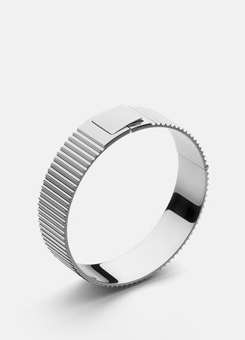 Bangle | Ribbed Clasp | Steel - STOCKHOLM