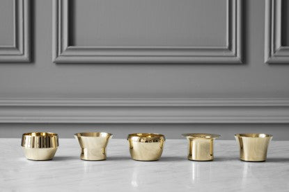 Candle Holder Kin | Set of 5 | Brass - STOCKHOLM