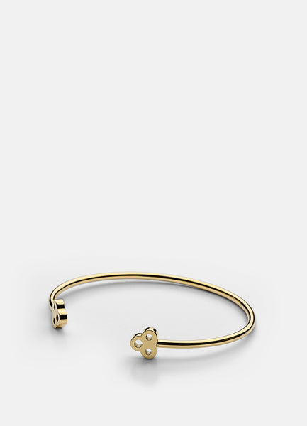 Bangle | Open Key Cuff | Gold - STOCKHOLM
