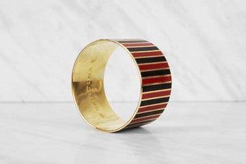 Bangle | The Stripe Bracelet | Black and Red - STOCKHOLM