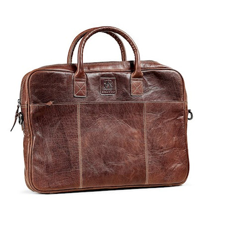 Laptop Bag | Brown | Waxed Buffalo Leather - STOCKHOLM