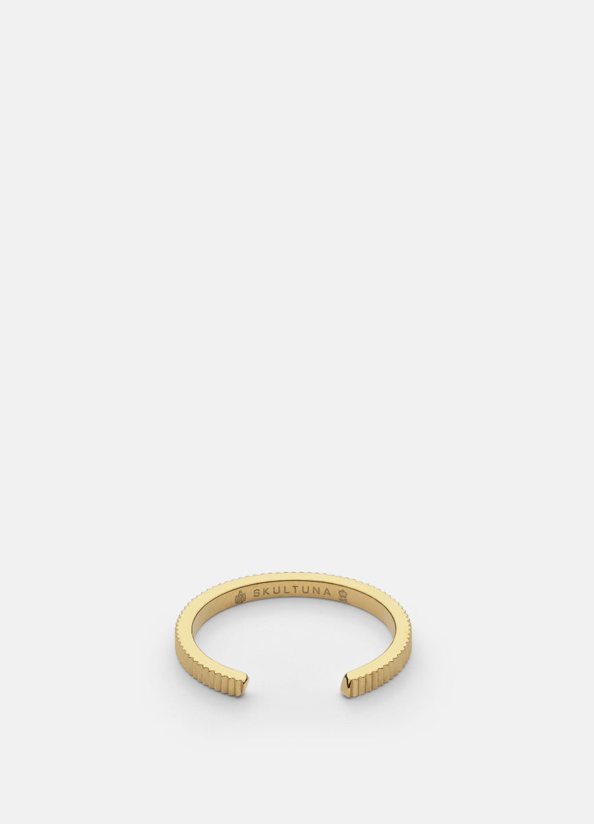 Ring | Ribbed Series | Thin | Gold - STOCKHOLM