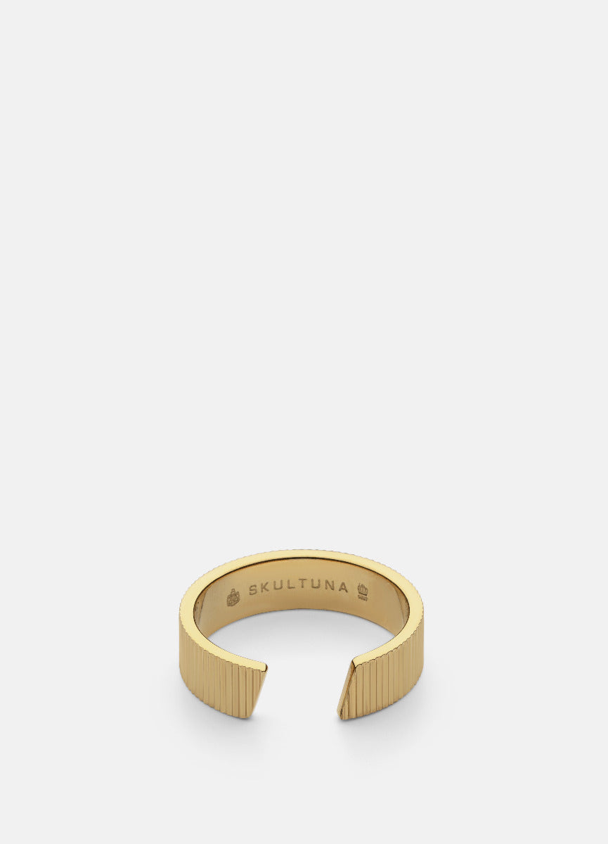 Ring | Ribbed Series | Thick | Gold - STOCKHOLM