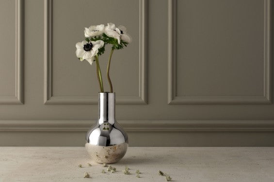 Vase | Boule | Silver | Small - STOCKHOLM